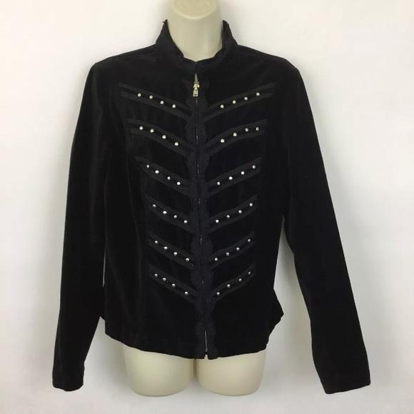Tripp nyc Jackets & Blazers - Tripp NYC velvet military jacket
